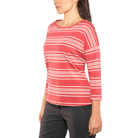 Patagonia W's Shallow Seas 3/4 Sleeved Top Lightning Stripe: Static Red